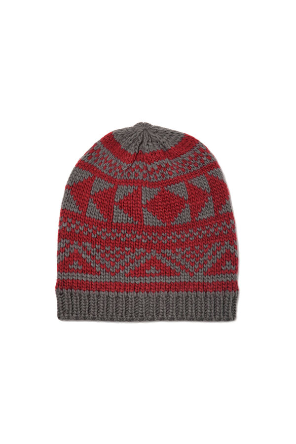 Beanie cap embroidered in contrasting colour | OVS