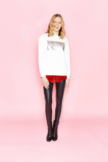Cotton blend printed sweatshirt