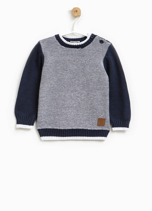 Pullover with contrasting sleeves | OVS