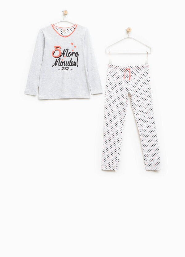 Polka dot pattern pyjamas in 100% cotton | OVS