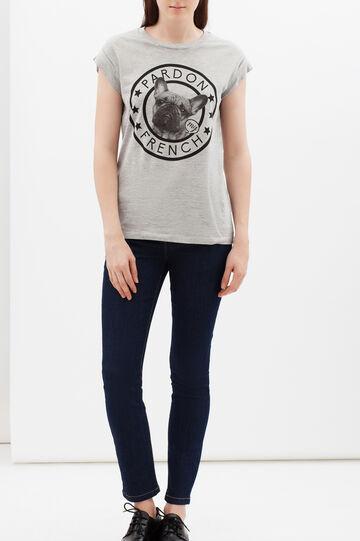 T-shirt con stampa, Grigio melange, hi-res