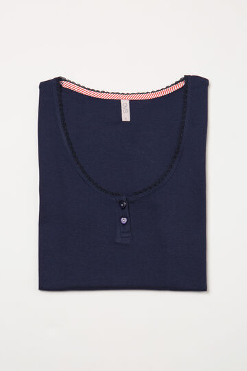 Solid colour cotton pyjama top