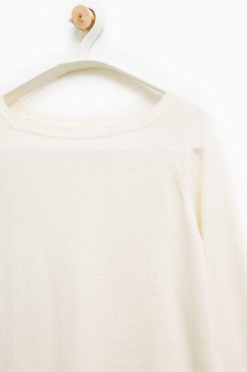Smart Basic solid colour pullover, White, hi-res