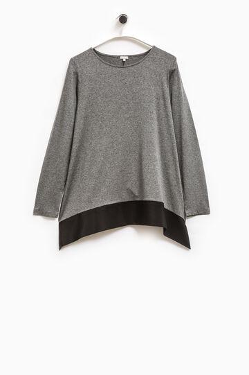 T-shirt viscosa stretch Smart Basic, Grigio, hi-res