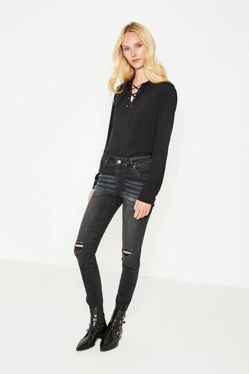 High-waist, skinny-fit stretch jeans