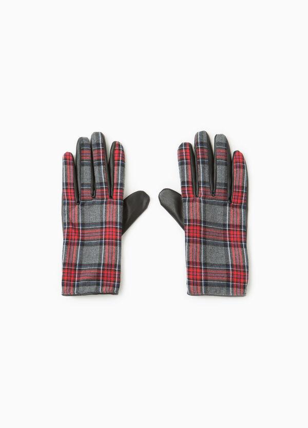 Tartan pattern gloves   OVS