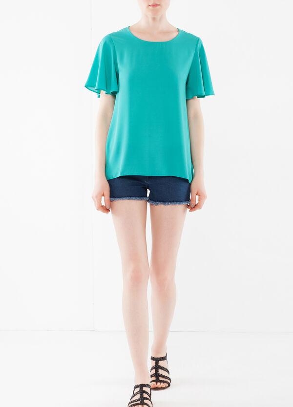 T-shirt con maniche volant | OVS