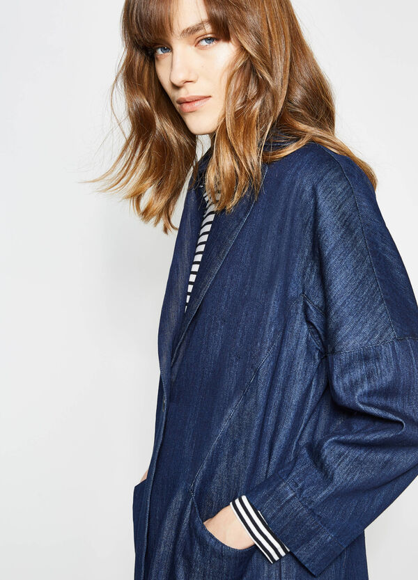Long denim jacket | OVS