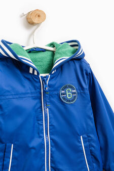 Jacket with contrasting trim, Blue/Green, hi-res