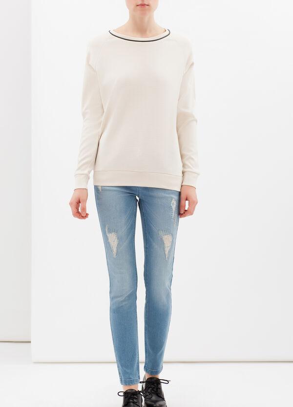 T-shirt misto viscosa scollo tondo | OVS