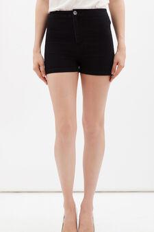 High-waisted, stretch shorts, Dark Wash, hi-res