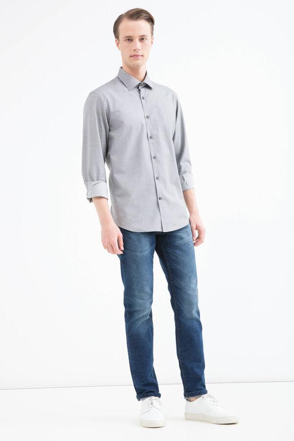 100% cotton regular fit shirt. | OVS