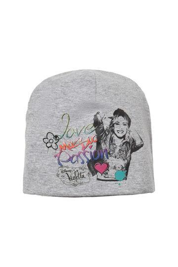 Hat with Violetta print, Light Grey, hi-res