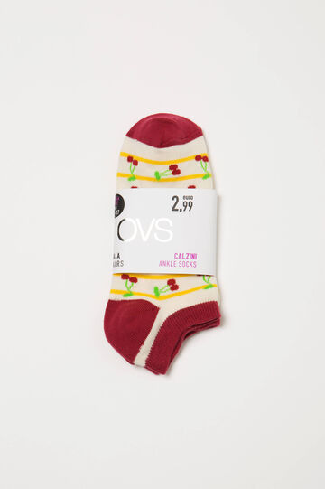 Two-pair pack stretch socks with pattern