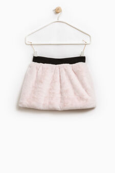 Fleece skirt with elasticated waist, Pink, hi-res