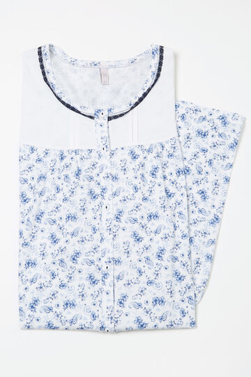 Curvy cotton nightshirt, White, hi-res
