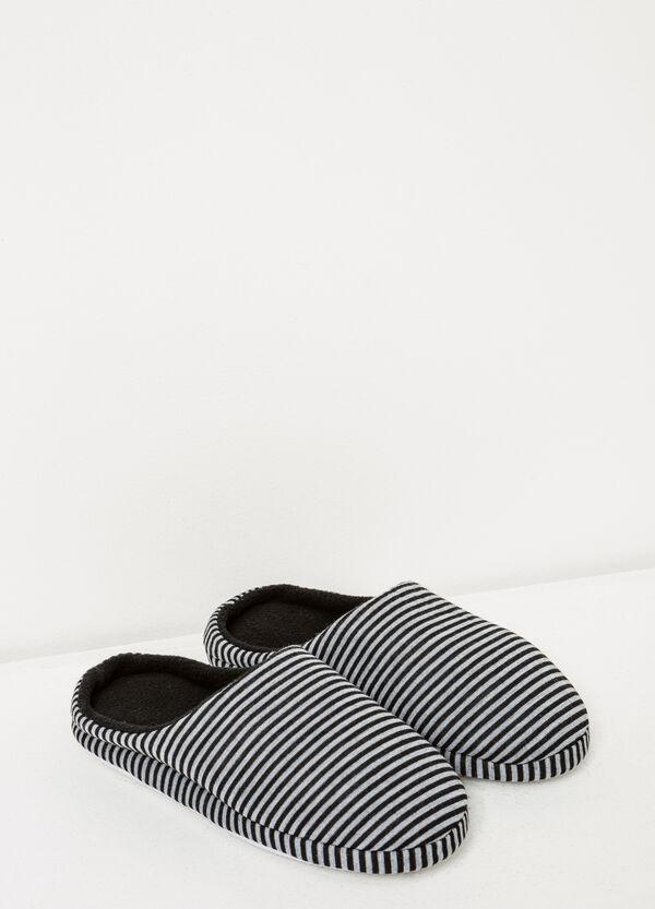 Zapatillas de casa en punto con rayas   OVS