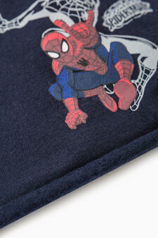 Beanie cap with Spiderman print, Navy Blue, hi-res