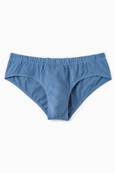 Cotton briefs with elasticated waistband, Deep Blue, hi-res