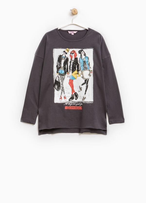 Camiseta de manga larga estampado grande | OVS