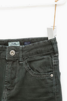 Slim-fit, stretch jeans with whiskering, Smoke Grey, hi-res