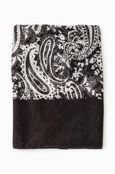 Paisley scarf, Black, hi-res
