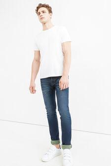 Jeans slim fit stretch effetto used, Denim, hi-res