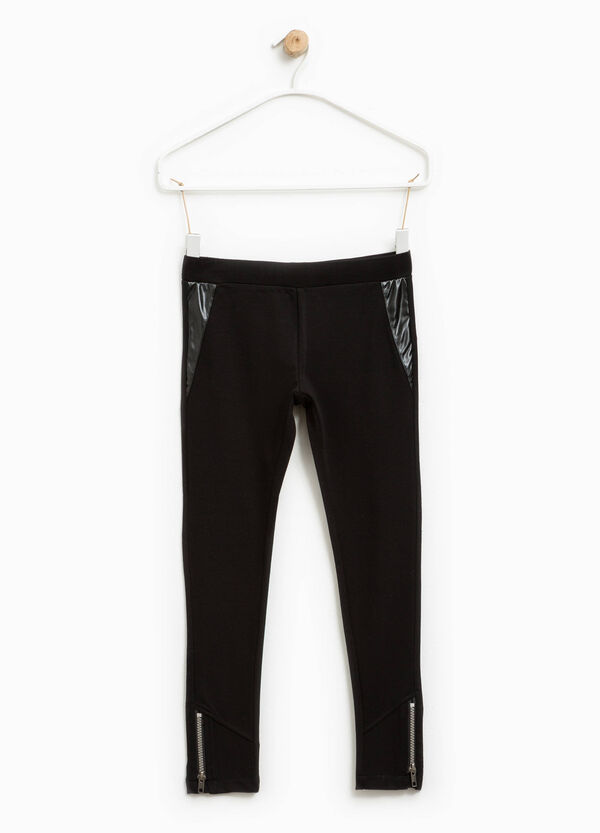 Stretch trousers with shiny inserts | OVS