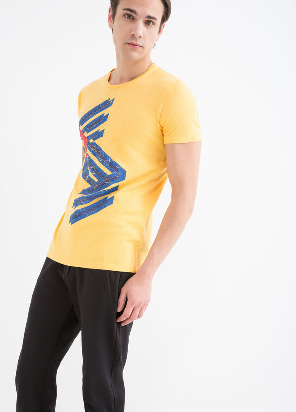 T-shirt cotone stampa bandiera | OVS
