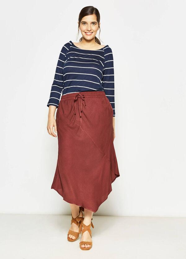 Curvy asymmetric longuette skirt | OVS