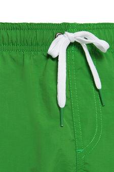 Solid colour swim boxer shorts, Grass Green, hi-res