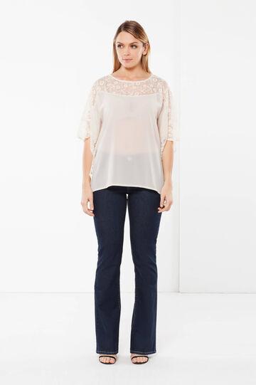 Curvyglam poncho blouse, Ivory White, hi-res