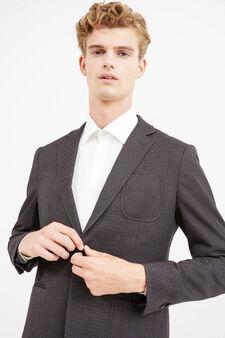 OVS Black 4 Pocket Jacket, Black/Grey, hi-res
