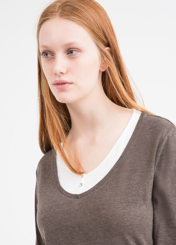 Curvy 100% cotton T-shirt   OVS