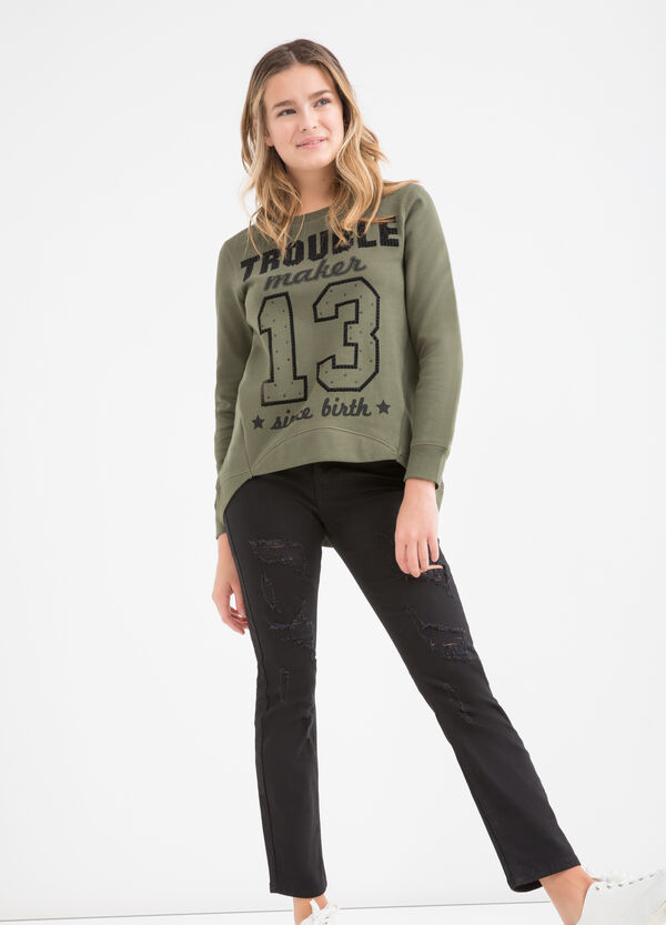 Teen printed sweatshirt in cotton | OVS
