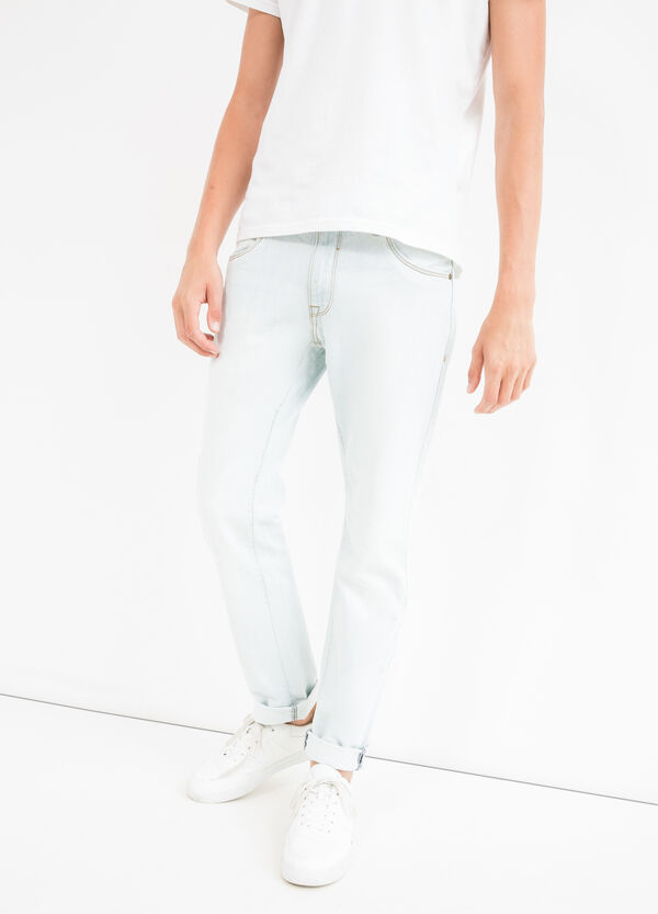 Solid colour slim fit jeans | OVS