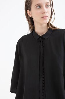 Three-quarter sleeve blazer., Black, hi-res