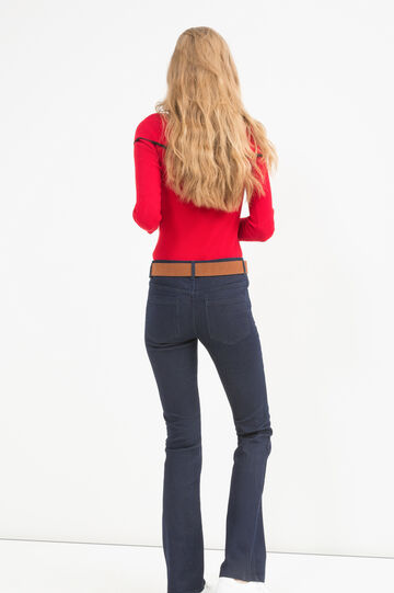 Bootcut stretch fit jeans, Denim Blue, hi-res
