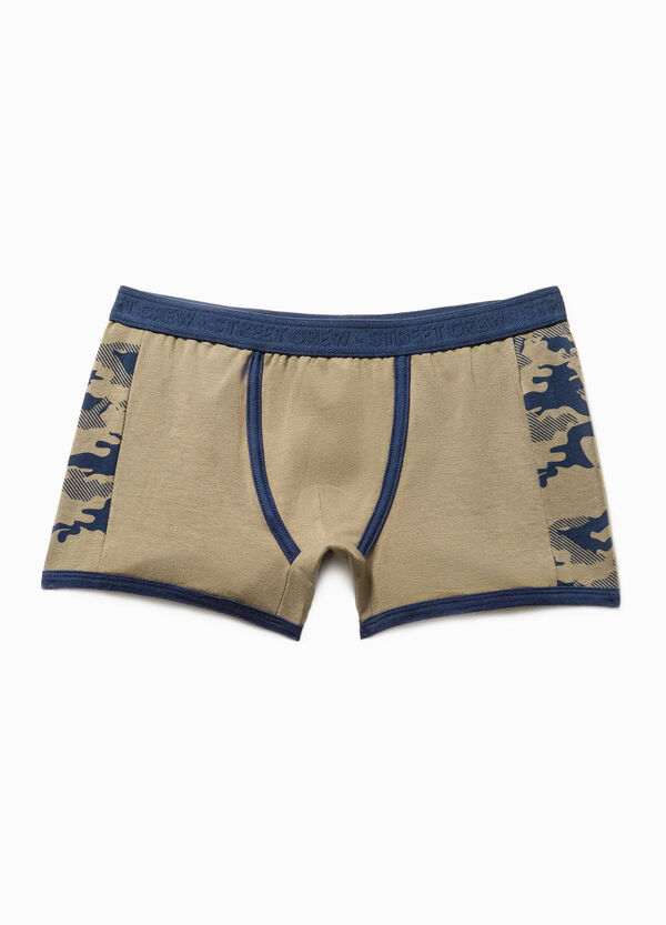 Cotton boxers with camouflage print | OVS
