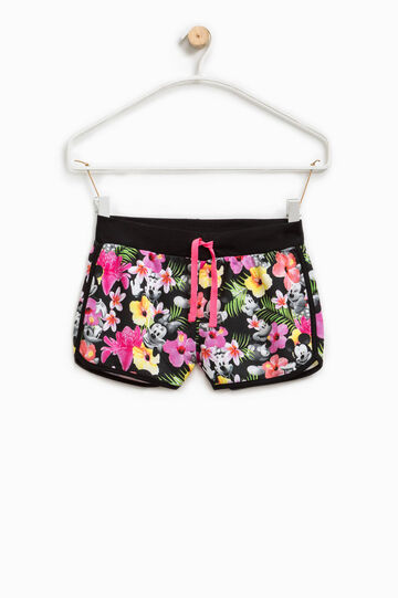Shorts with Mickey and Minnie Mouse print, Multicolour, hi-res