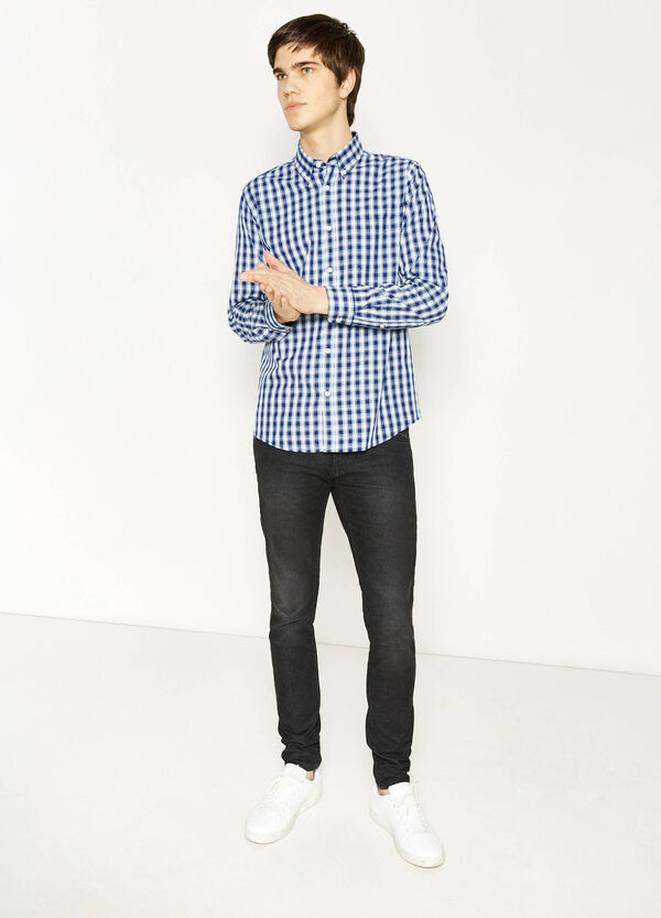 Casual shirt in cotton with tartan pattern | OVS