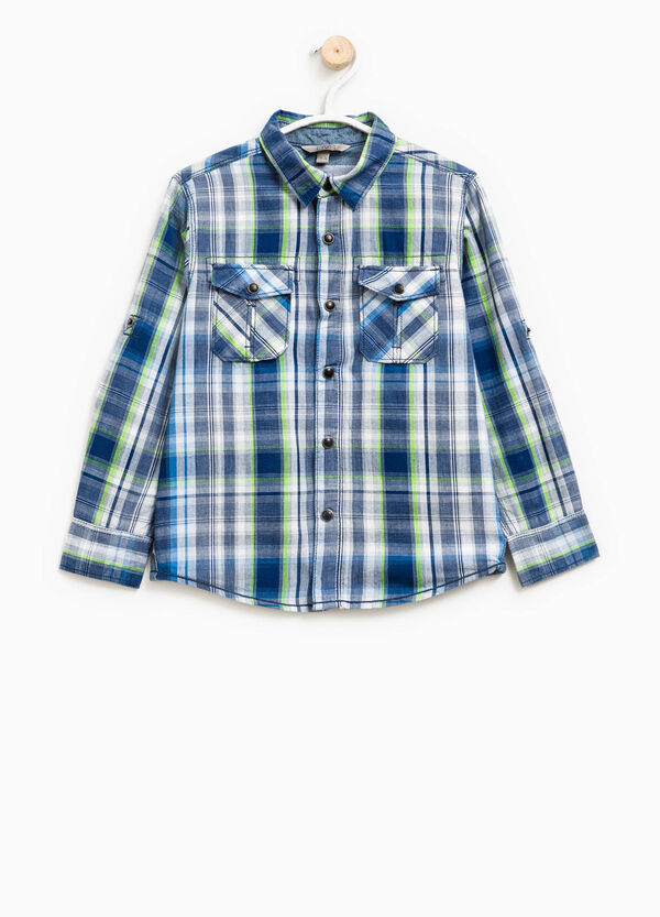 Cotton shirt with tartan pattern | OVS