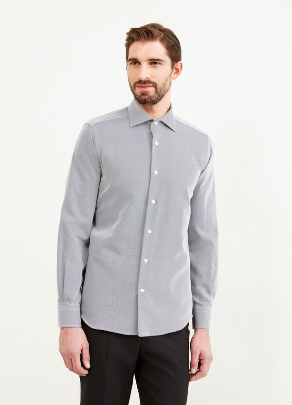 Cotton striped slim fit formal shirt | OVS