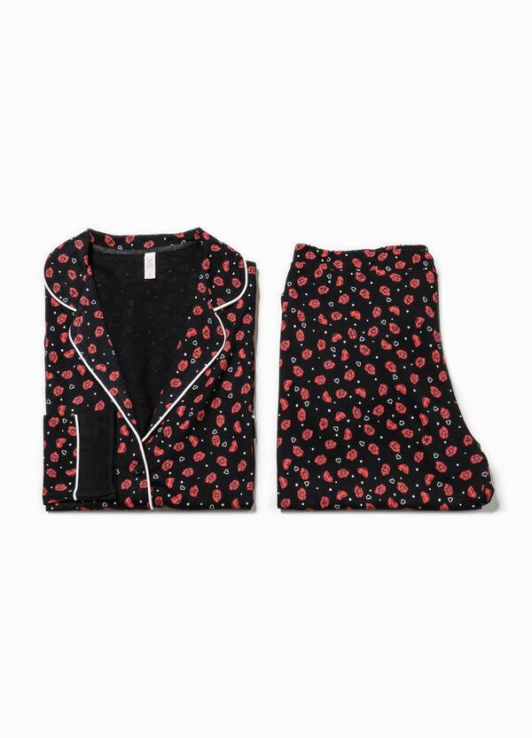 Pijama de algodón y modal con estampado por todo | OVS