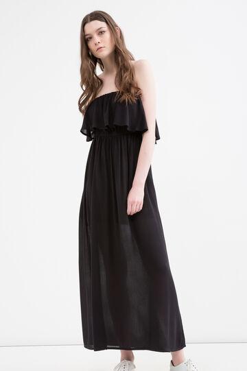 Viscose empire dress, Black, hi-res