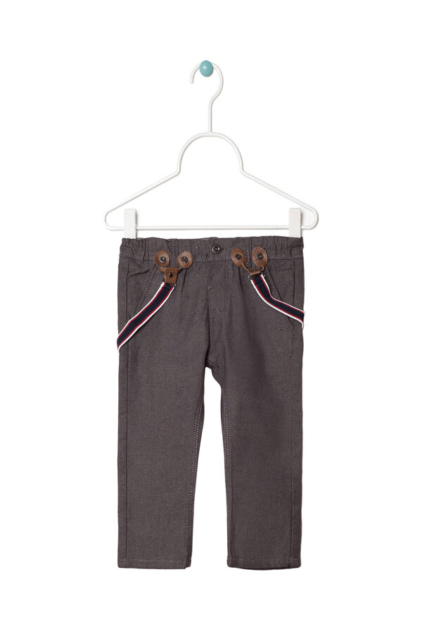 Jacquard trousers with braces | OVS