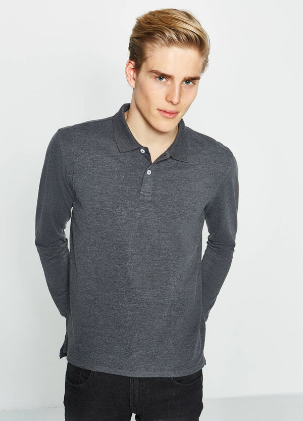 Polo shirt in 100% cotton with long sleeves | OVS