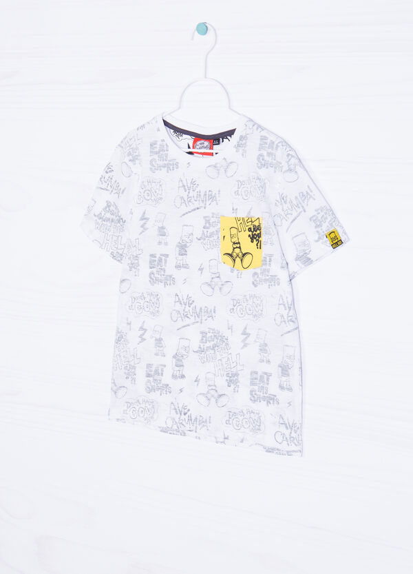 Bart printed T-shirt in 100% cotton | OVS