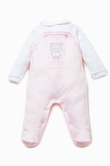 Embroidered onesie with flounces
