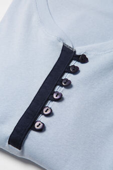 Maglia pigiama puro cotone Curvy, Viola lilla, hi-res